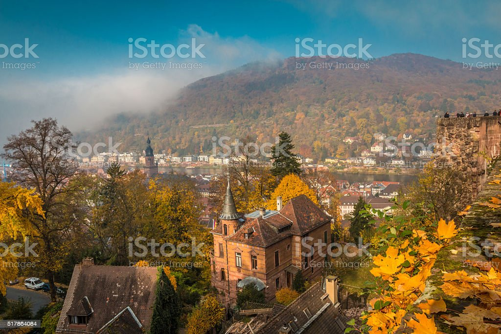 View of Heidelberg in Germany stock photo