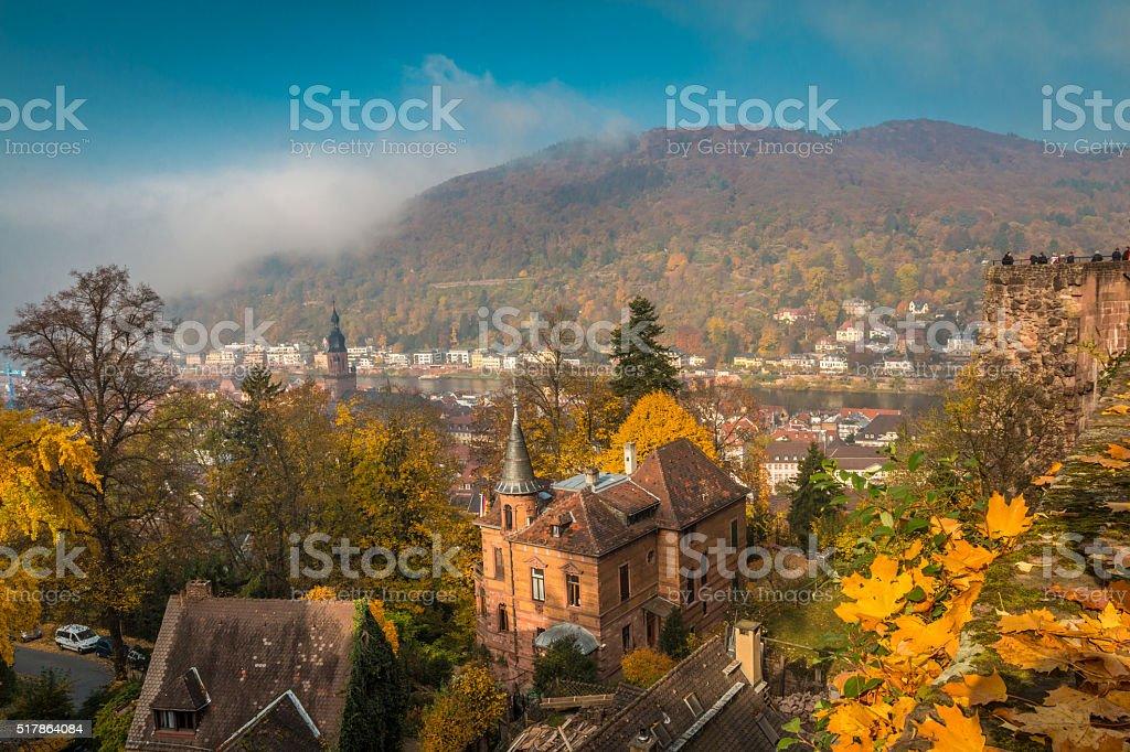 View of Heidelberg in Germany stock photo
