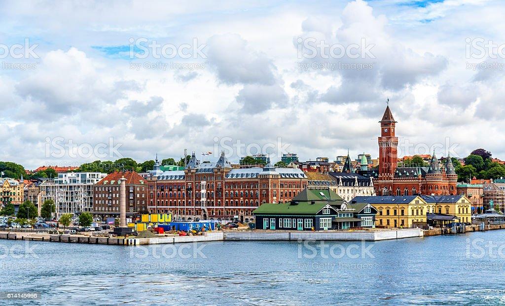 View of Helsingborg city centre - Sweden stock photo