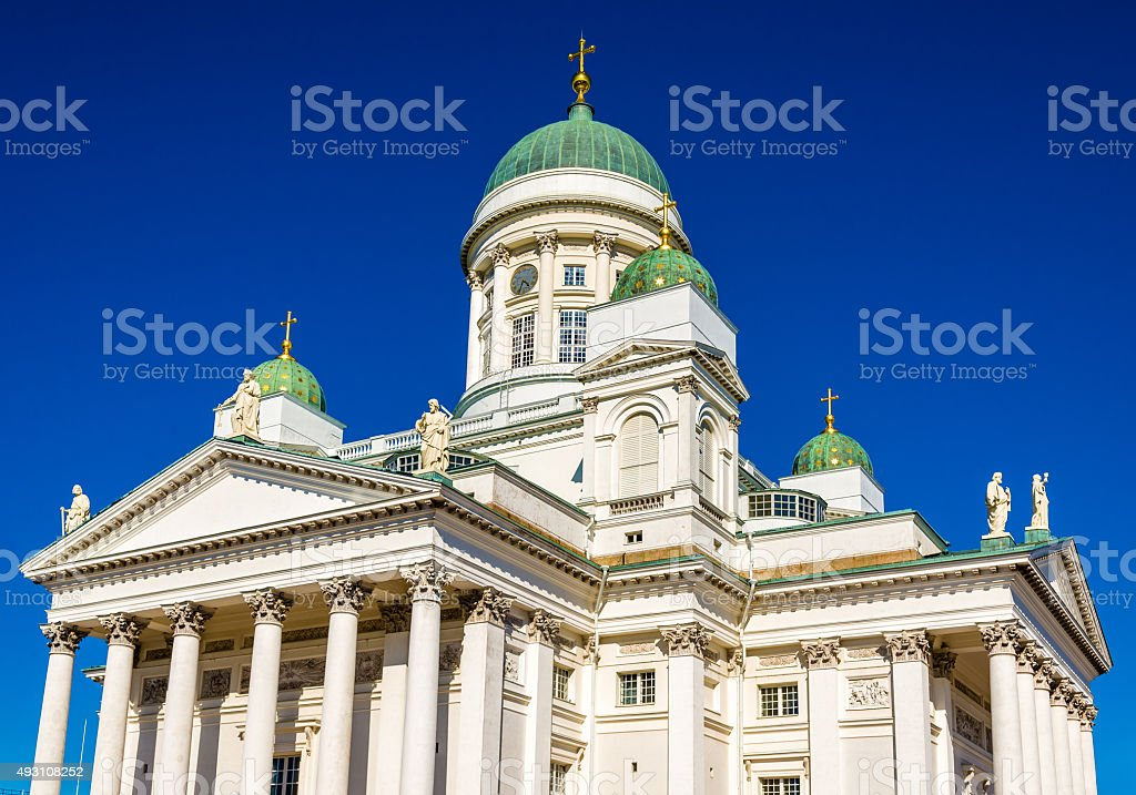 View of Helsinki Lutheran Cathedral - Finland stock photo