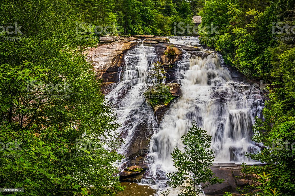 View of High Falls, in Dupont State Forest, North Carolina. stock photo