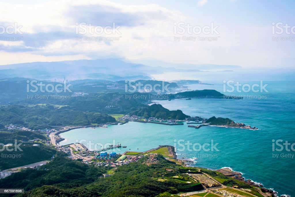 View of Hills and nature in Taiwan countryside stock photo