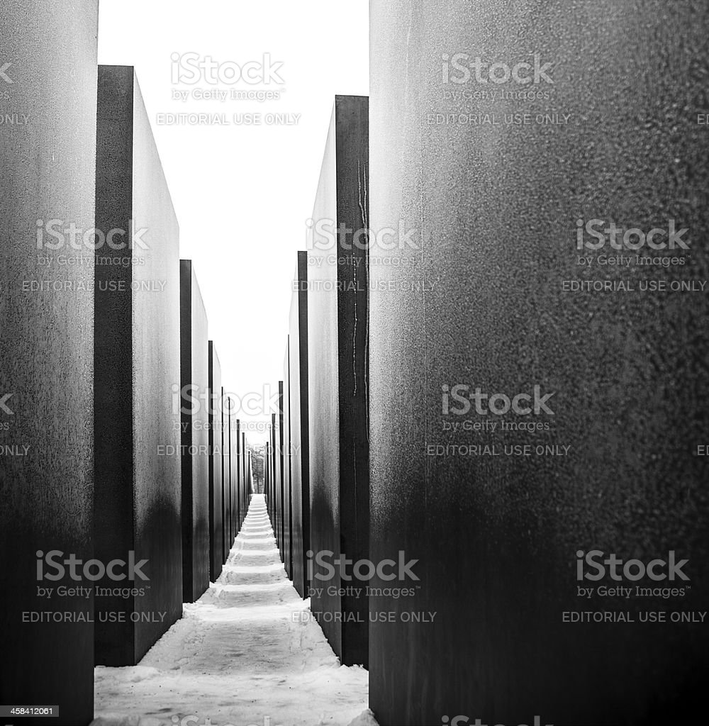 View of Holocaust Memorial in Berlin, Germany stock photo