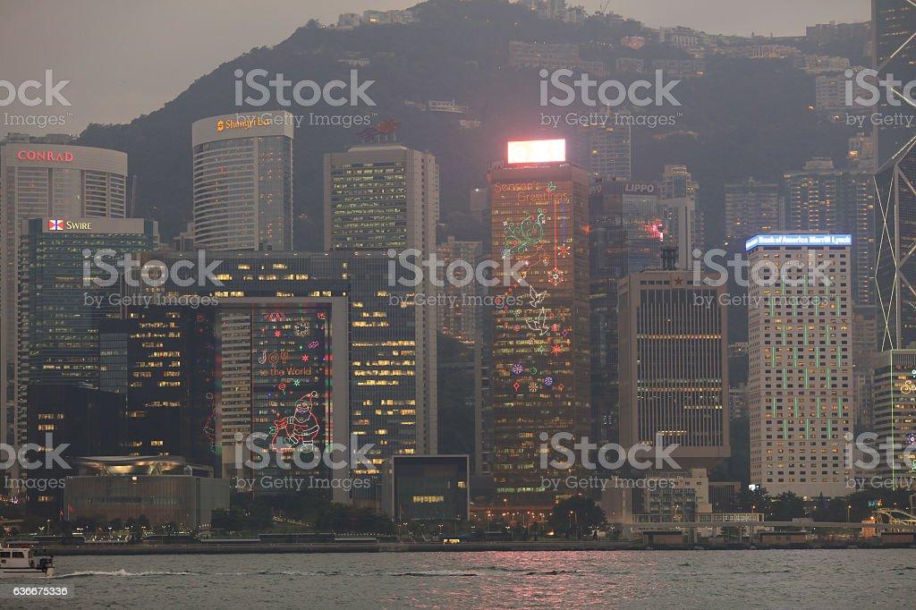View of Hong Kong at 2016 stock photo