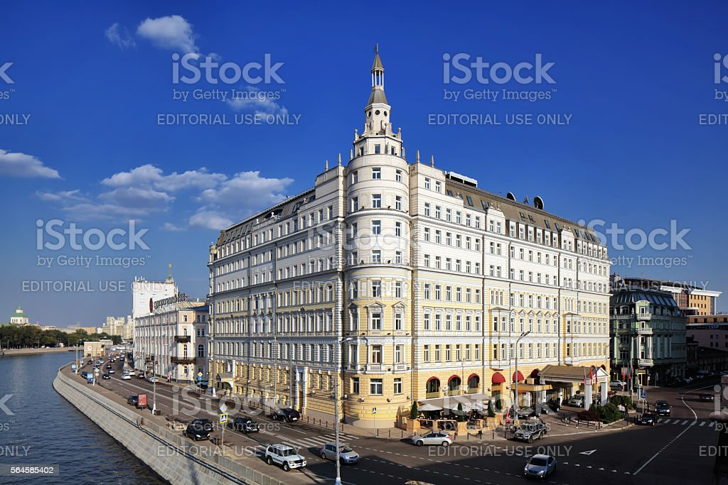 View of Hotel Baltschug Kempinski in Moscow, Russia stock photo