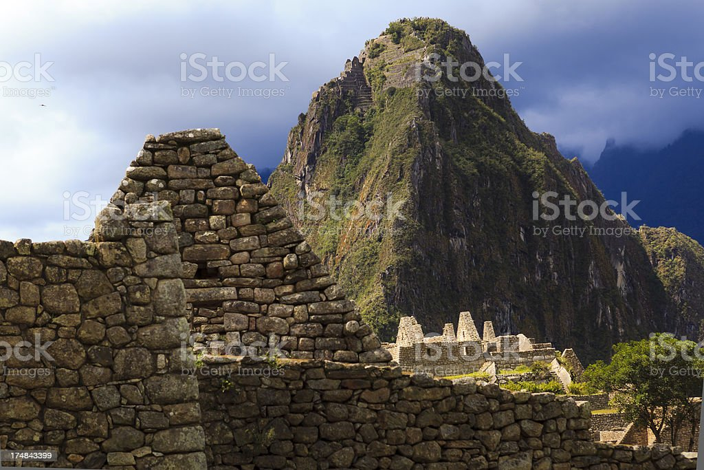 View of Huayna Picchu Mountain royalty-free stock photo