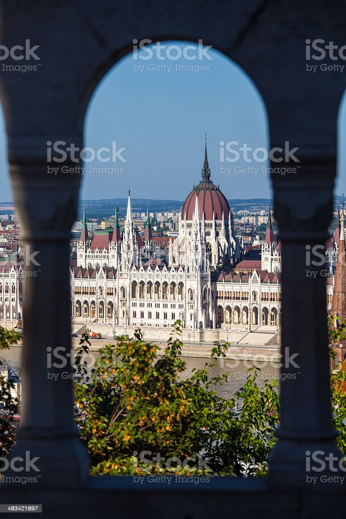 View of Hungarian Parliament Building royalty-free stock photo