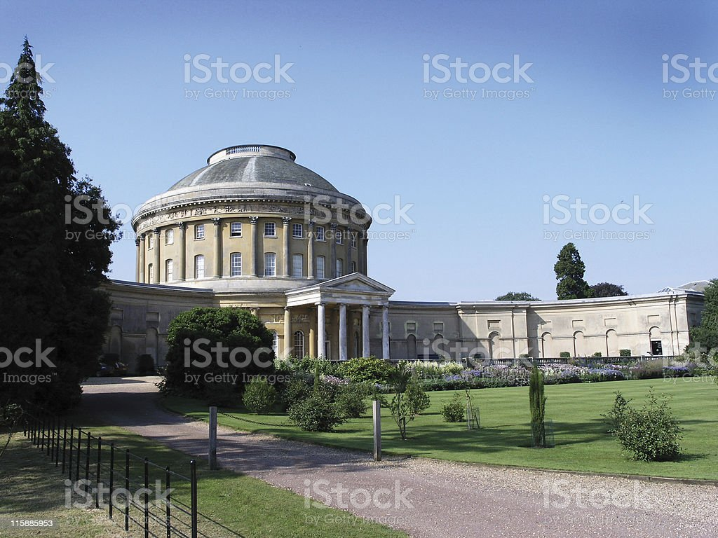view of Ickworth House stock photo