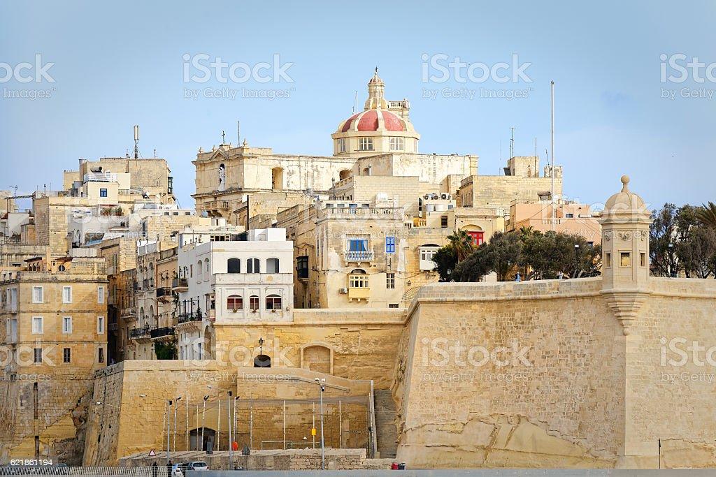 View of Il-Belt Valletta, Malta stock photo