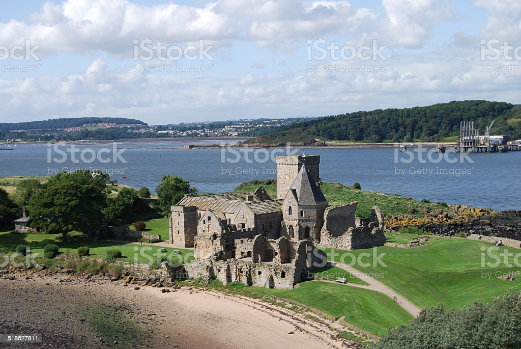 View of Inchcolm stock photo
