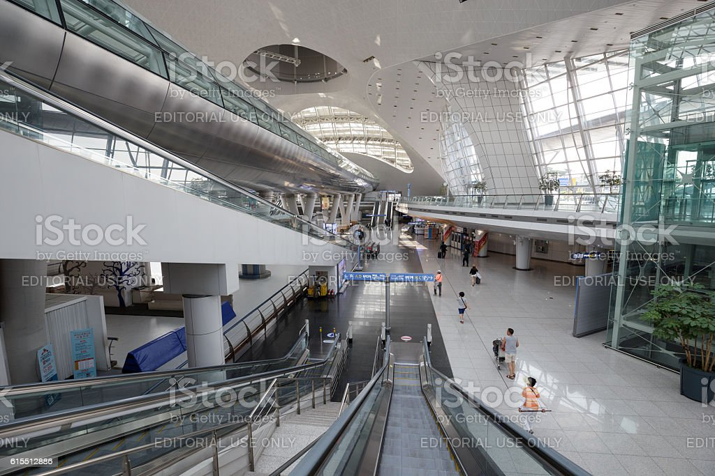 View of Incheon International airport royalty-free stock photo
