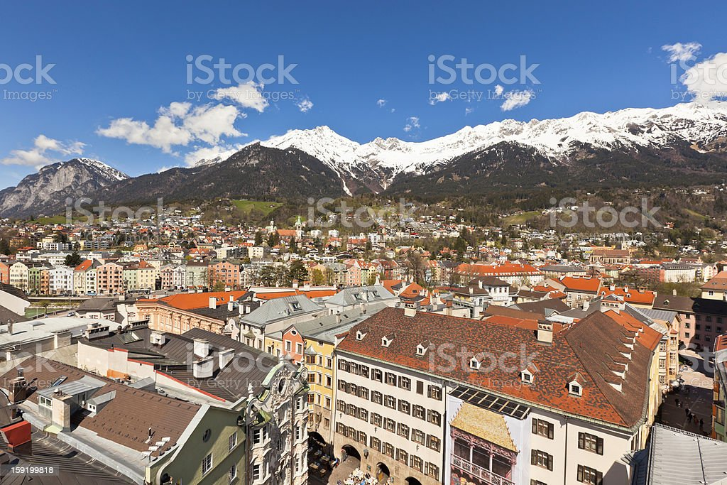 View of Innsbruck, Austria royalty-free stock photo