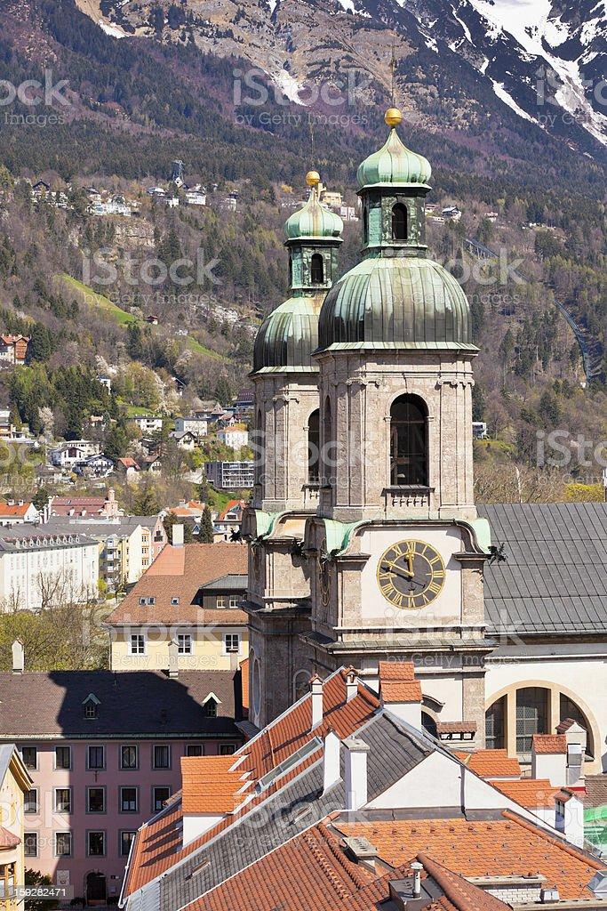 View of Innsbruck, Austria royalty-free stock photo