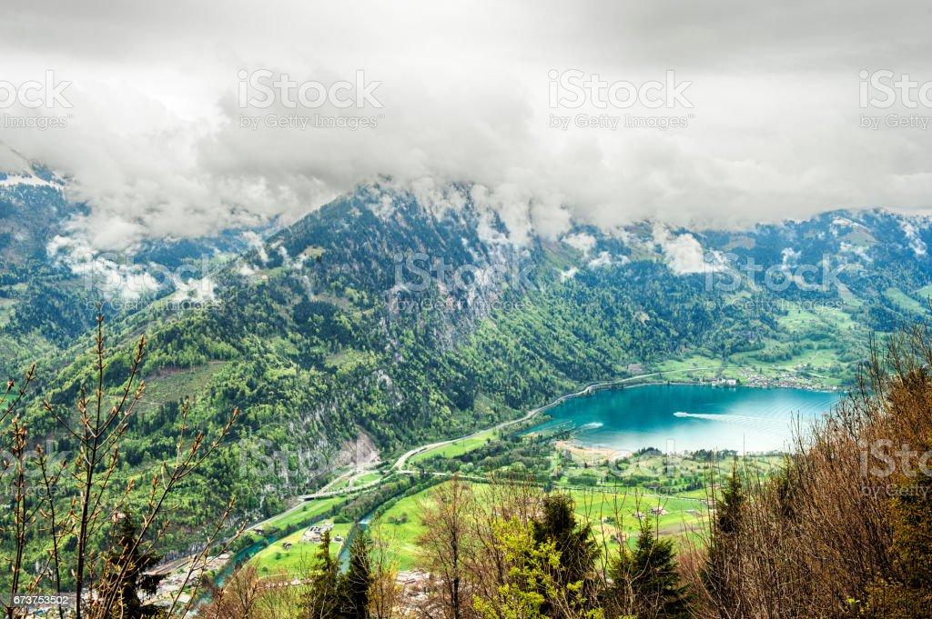 View of Interlaken, Switzerland stock photo