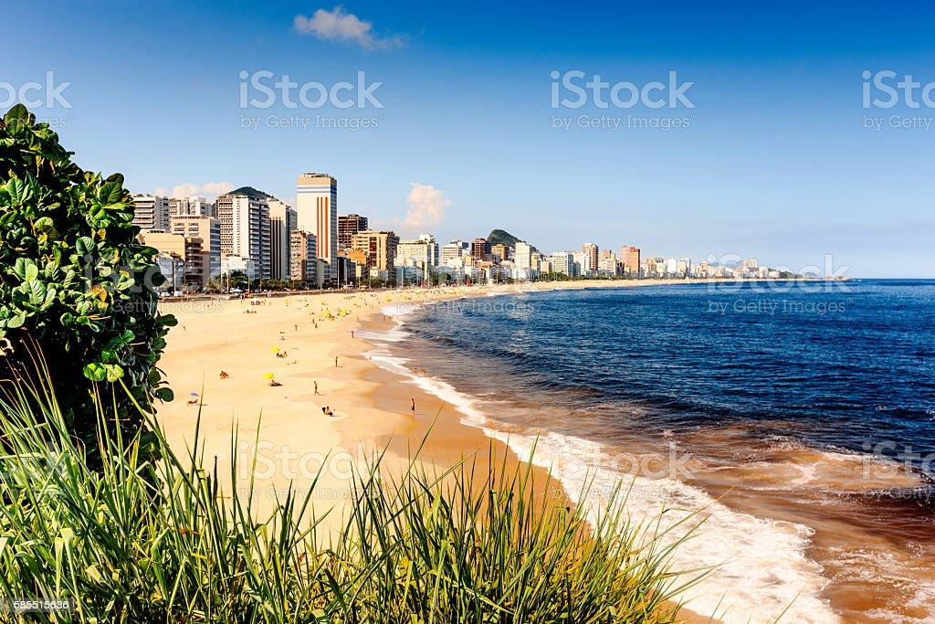 View of Ipanema beach, Rio De Janeiro, Brazil stock photo
