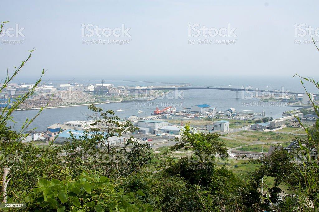 View of Ishinomaki stock photo