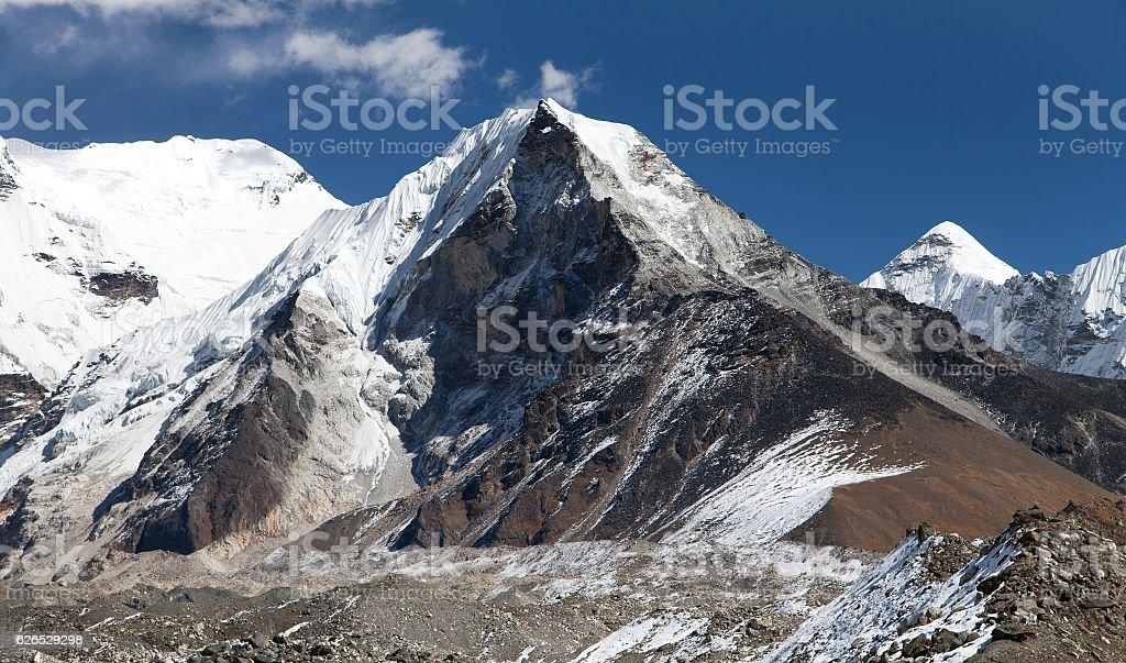View of Island peak or Imja Tse stock photo