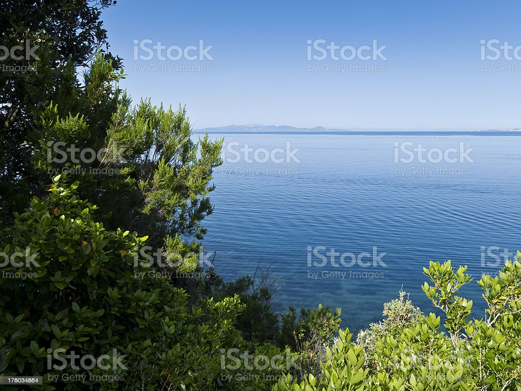 View of Isola d'Elba, Tuscany royalty-free stock photo