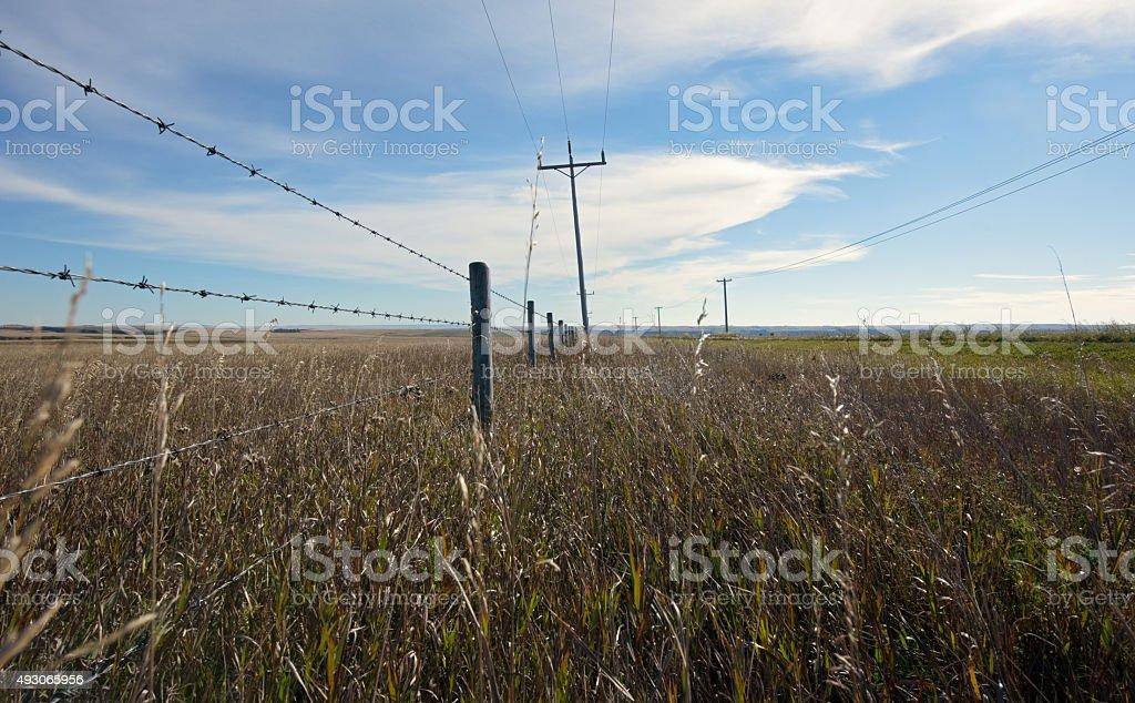View of isolation alone farmland stock photo