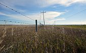View of isolation alone farmland