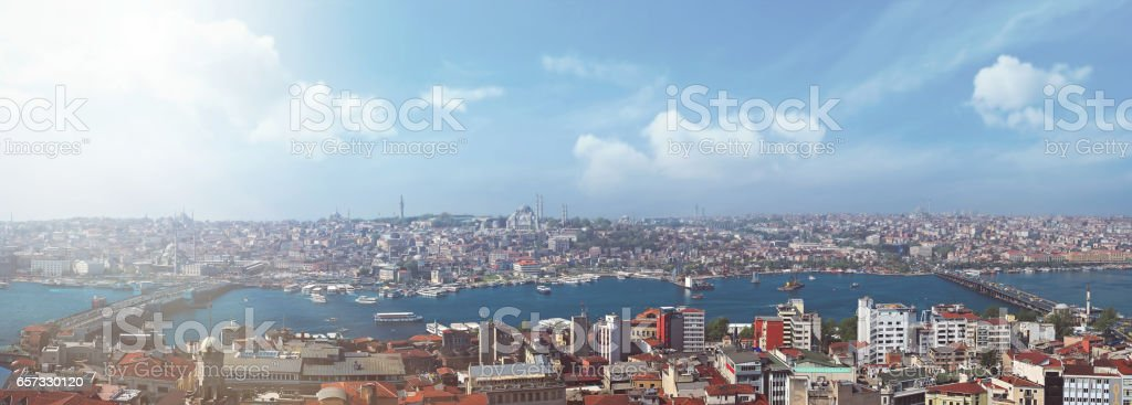 View of Istanbul from Galata tower stock photo