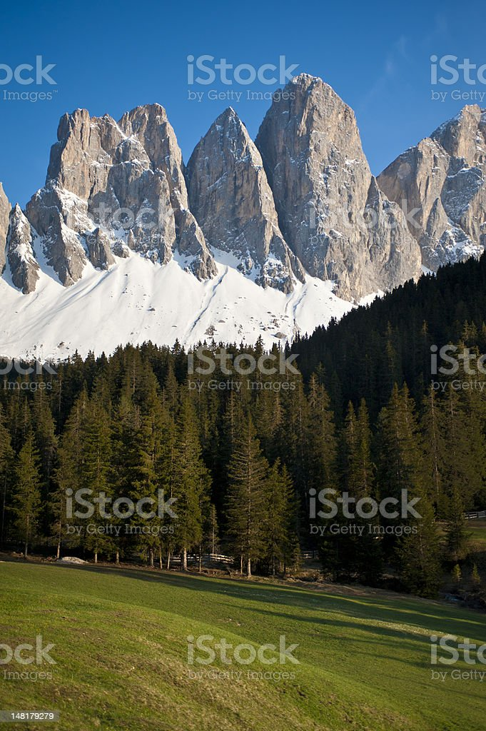 View of Italian Alps royalty-free stock photo