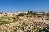 View of Jerash Roman Ruins in Jordan