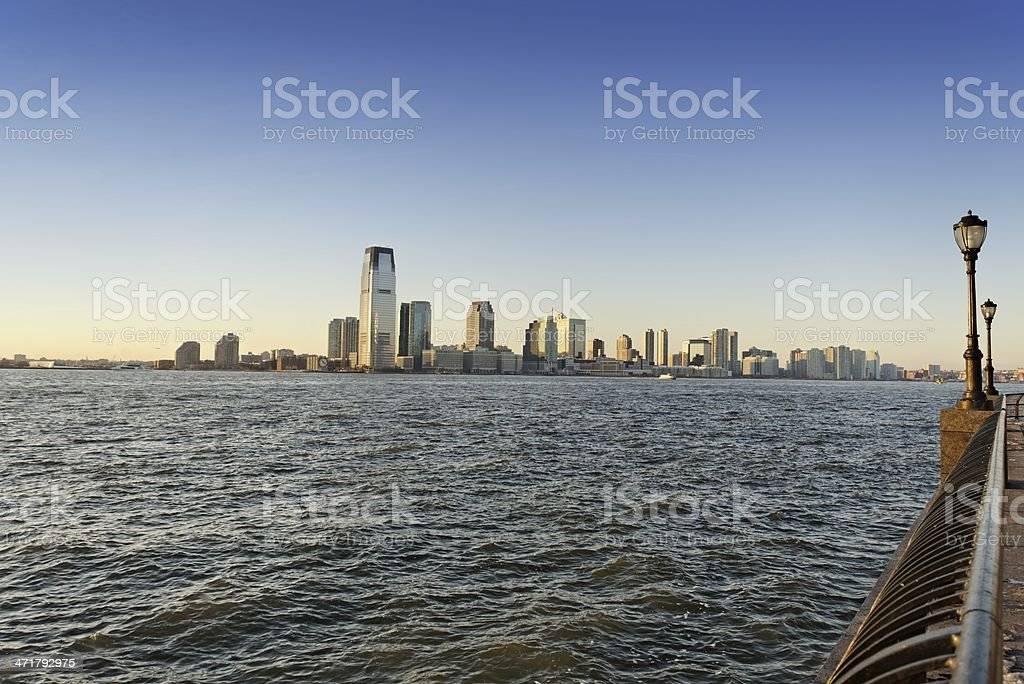 View of Jersey City and Hudson River royalty-free stock photo