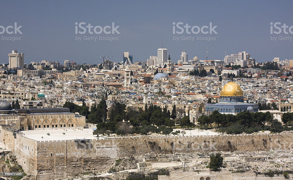 View of Jerusalem royalty-free stock photo