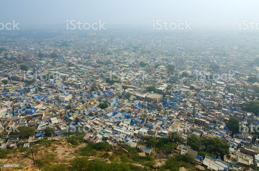 View of Jodhpur, The Blue City from Mehrangarh Fort stock photo