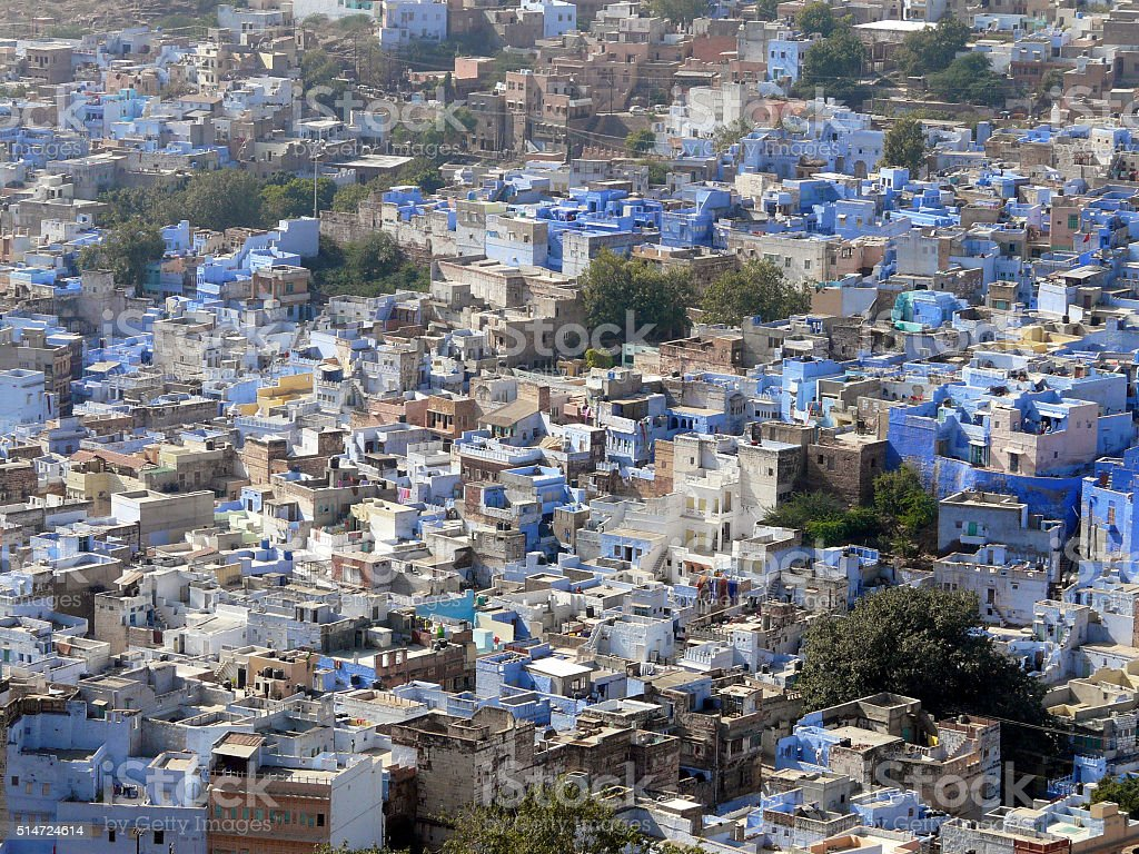 Vue de Jodphur, inde stock photo