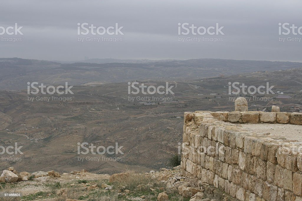 View of Jordan from Mt. Nebo stock photo