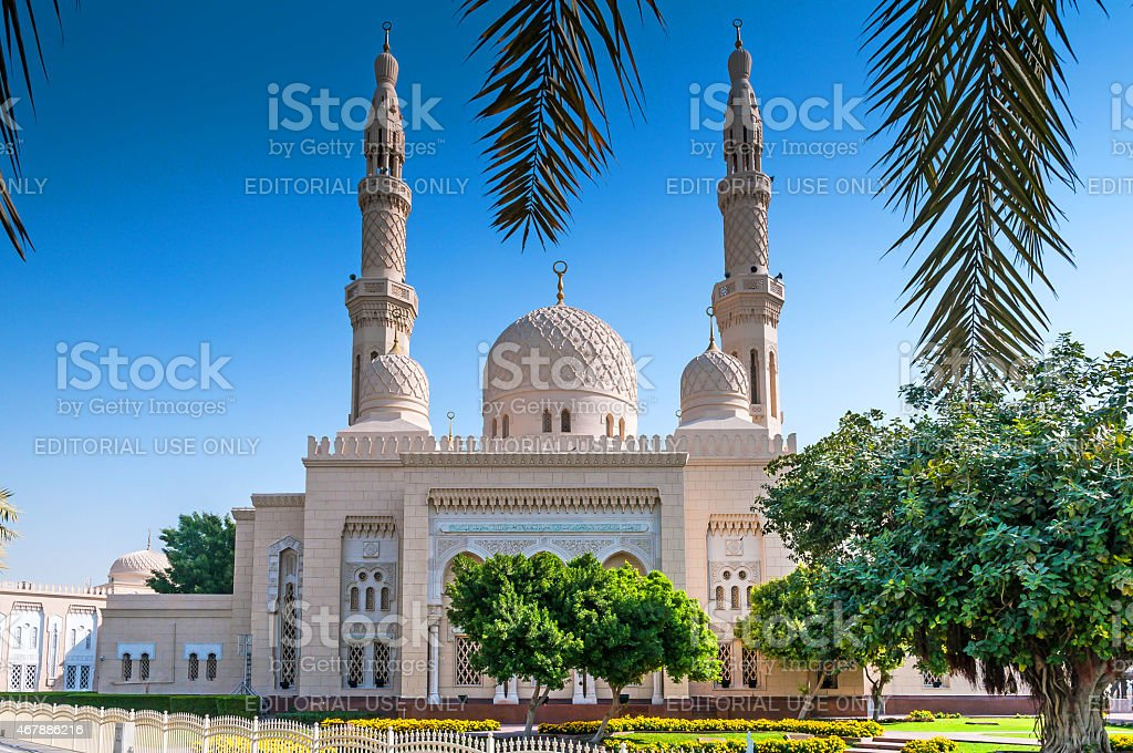 View of Jumeirah Mosque, Dubai stock photo