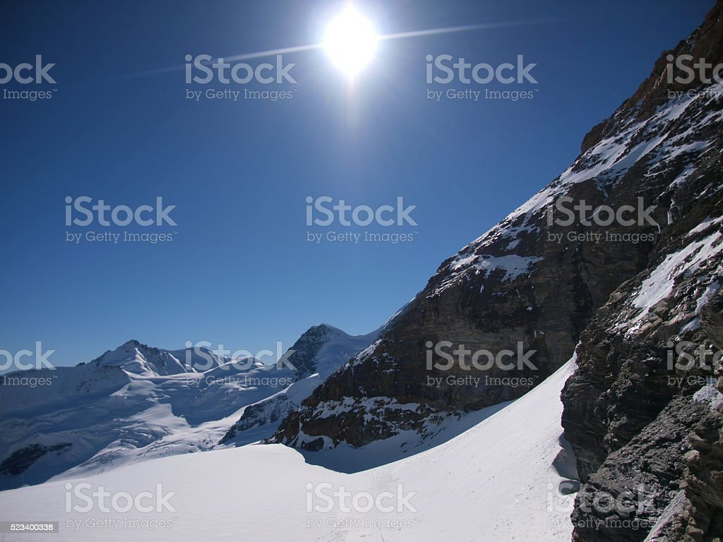 View of Jungfraujoch,Grindelwald/Switzerland stock photo