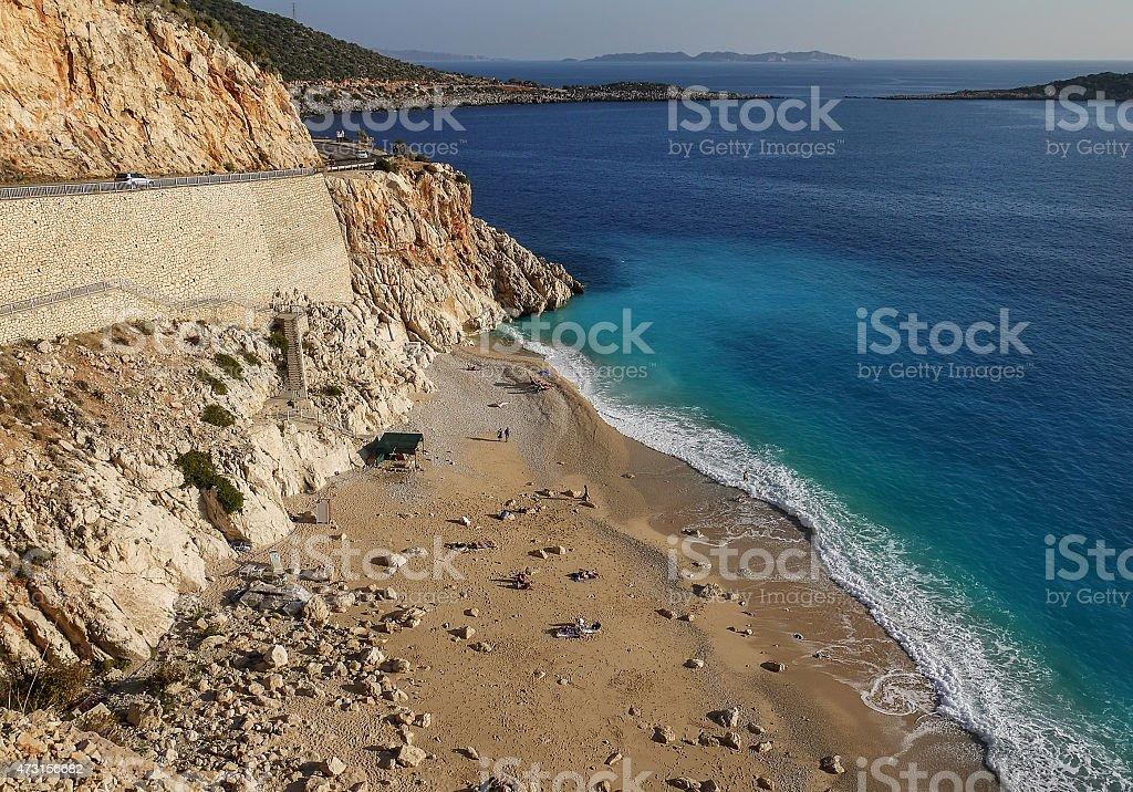 View of Kaputas beach near Antalya, Turkey stock photo