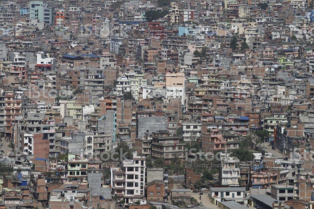 View of Kathmandu, Nepal stock photo