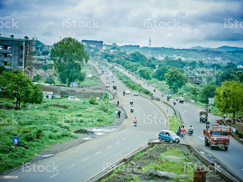 View of Katraj Bypass stock photo