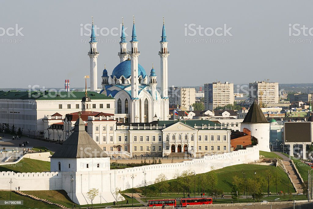 View of Kazan Kremlin stock photo