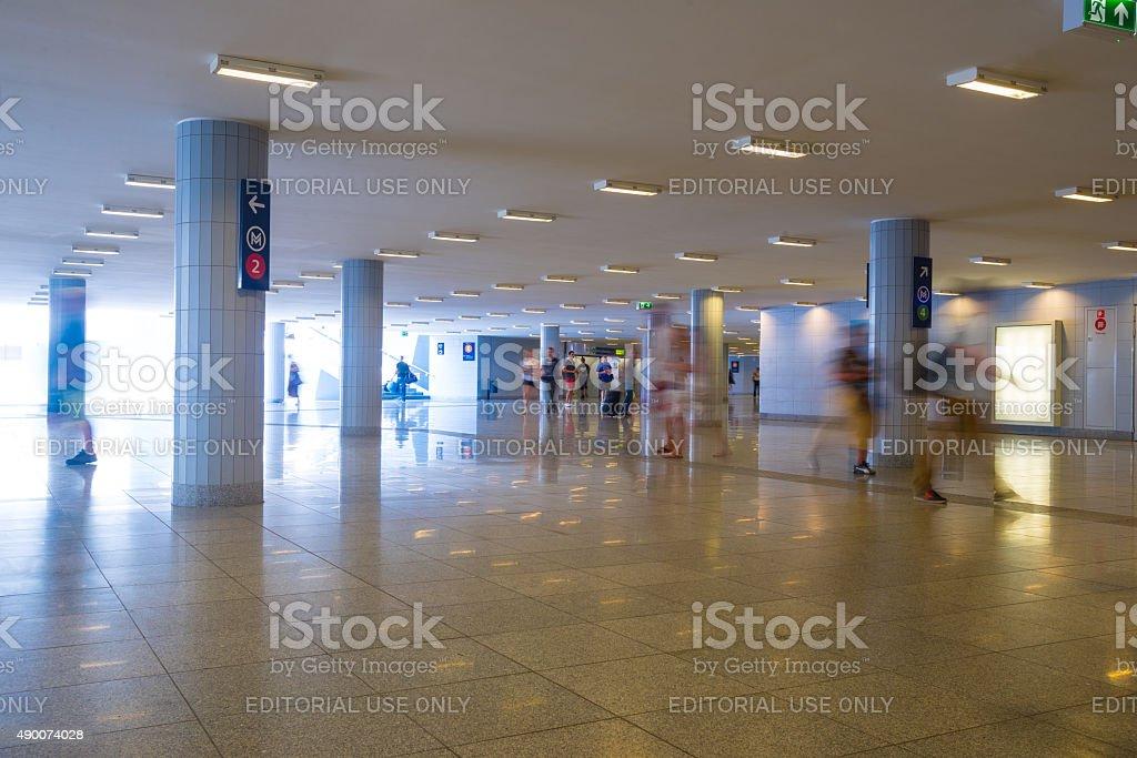View of Keleti metro station stock photo