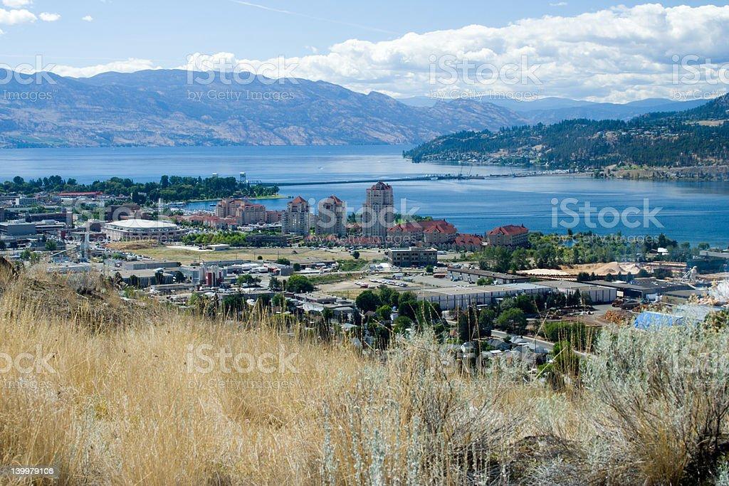 View of Kelowna, BC royalty-free stock photo