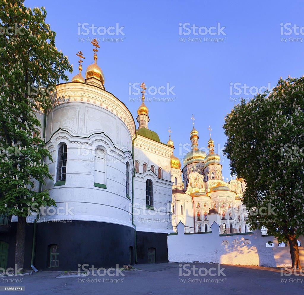 View of Kiev Pechersk Lavra Orthodox Monastery royalty-free stock photo