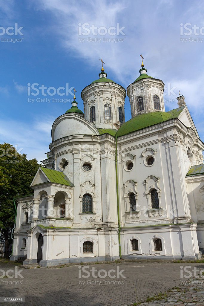 View of Kiev Podolsk Intercession Church. Ukraine stock photo