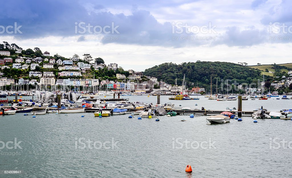 View of Kingswear from Dartmouth stock photo