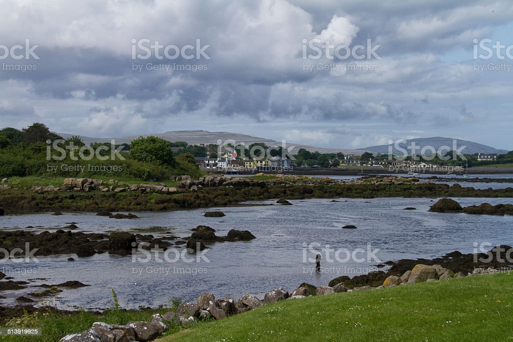 View of Kinvarra Co Galway stock photo