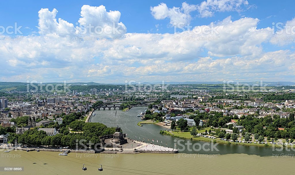 View of Koblenz, Germany stock photo