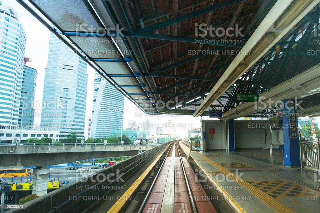 View of Kuala Lumpur from Kelana Jaya Line royalty-free stock photo