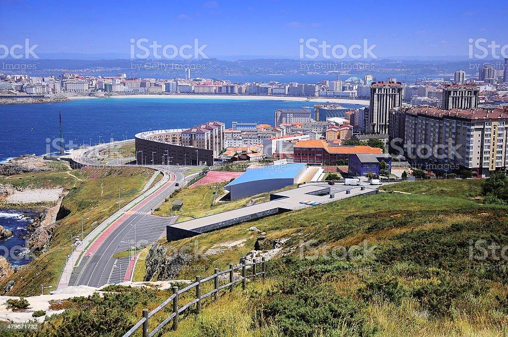 View of La Coruna, Spain stock photo