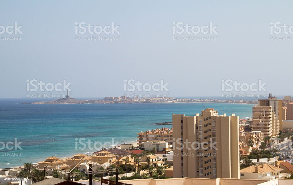 View of la Manga del Mar Menor stock photo