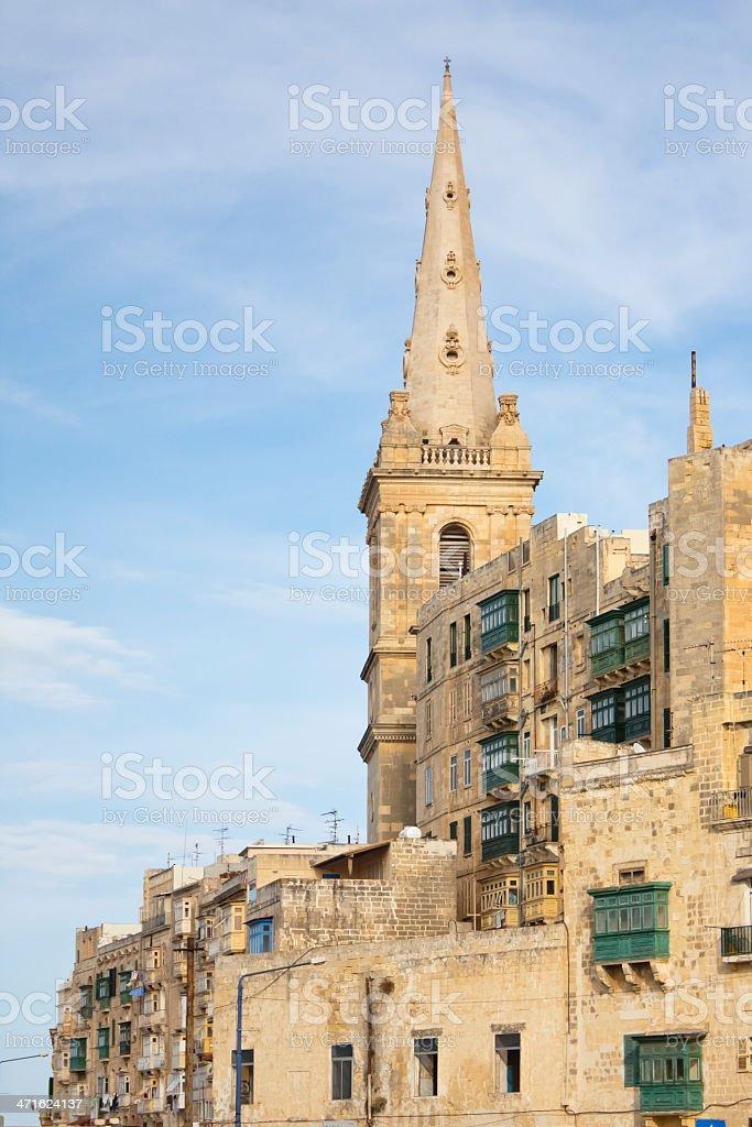 View of La Valletta , Malta island. royalty-free stock photo