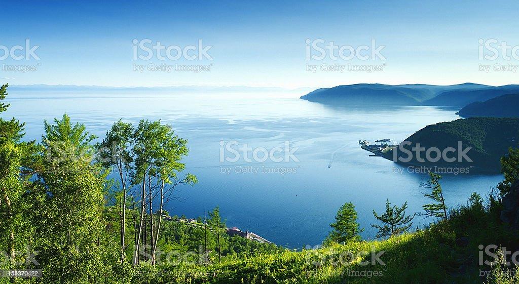 View of Lake Baikal stock photo
